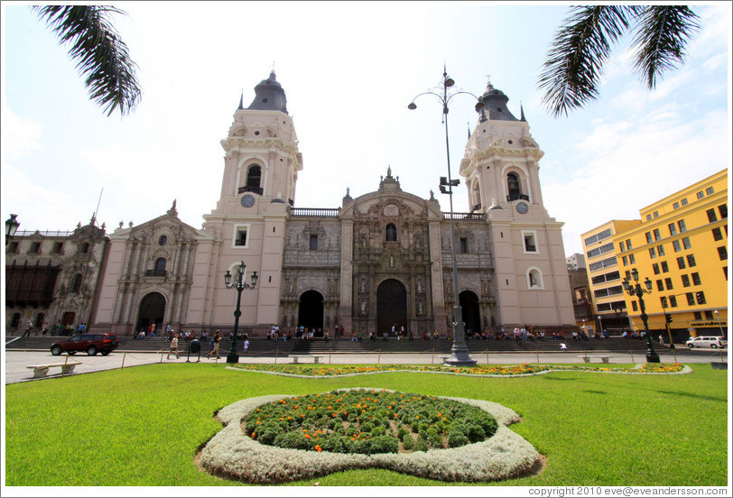 Cathedral, Plaza de Armas, Historic Center of Lima.