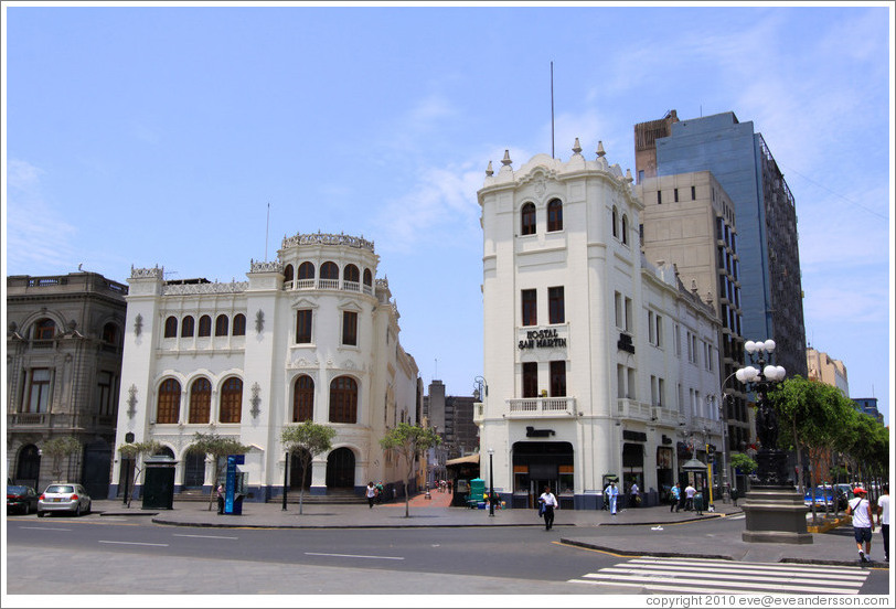 Buildings near the Plaza San Mart? Historic Center of Lima.