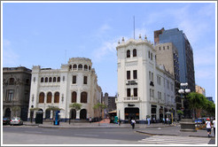 Buildings near the Plaza San Mart�n, Historic Center of Lima.
