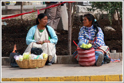 Two women, Plaza de Armas.
