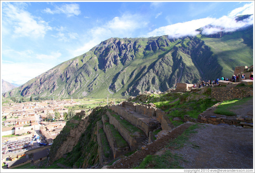View from Ollantaytambo Fortress.