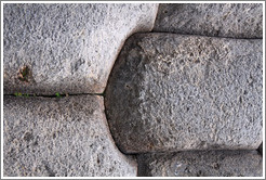 Stones cut to fit perfectly together, Sacsayhuam�n ruins.