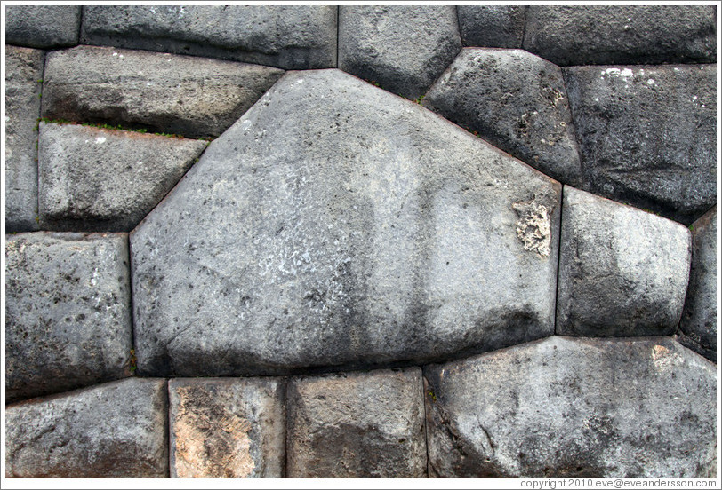 Stones cut to fit perfectly together, Sacsayhuam?ruins.