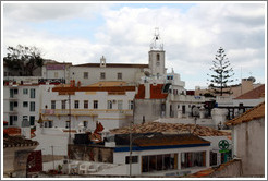 View of Albufeira, including the clocktower, from Igreja Matriz (the Principal Church of Albufeira).