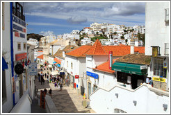View of Albufeira from the steps next to T?nel Peneco, the tunnel leading to Praia do Peneco (Peneco's Beach).