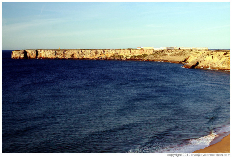 Cliff on which the Fortaleza de Sagres (Sagres Fortress) sits.