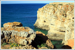 Cliffs, coast near Sagres.
