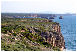 Cliffs and small islands, coast near Sagres.