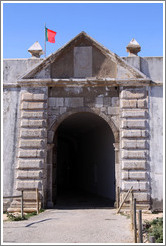 Porta da Pra? the main entrance to the Fortaleza de Sagres (Sagres Fortress).