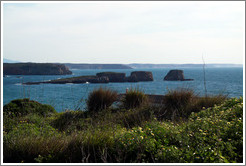 Small islands off the coast near Sagres.