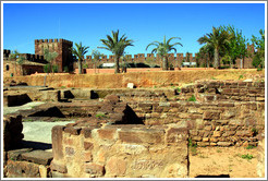 Complexo de Banhos (Complex of Baths), Pal?o Principal (Main Palace), Silves Castle.