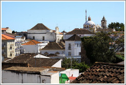 View of the rooftops of Tavira from Igreja de Santa Maria do Castelo (Church of St. Mary at the Castle).