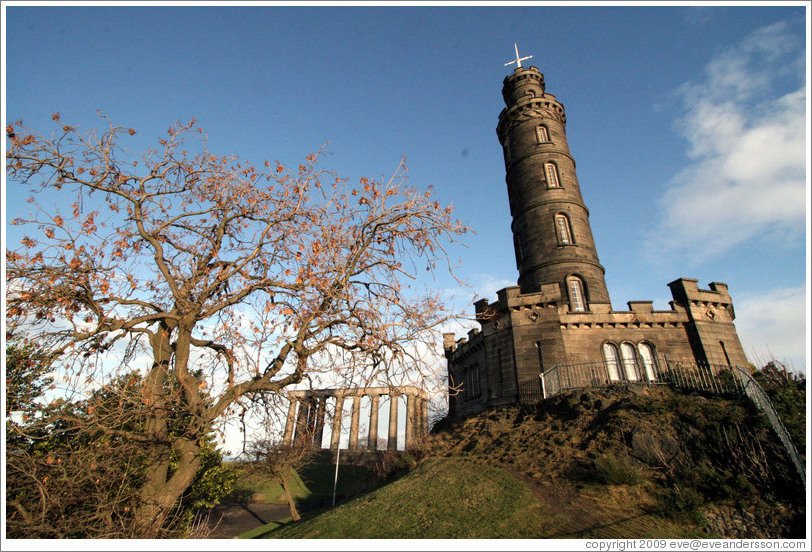 National Monument and Nelson Monument.  Calton Hill.