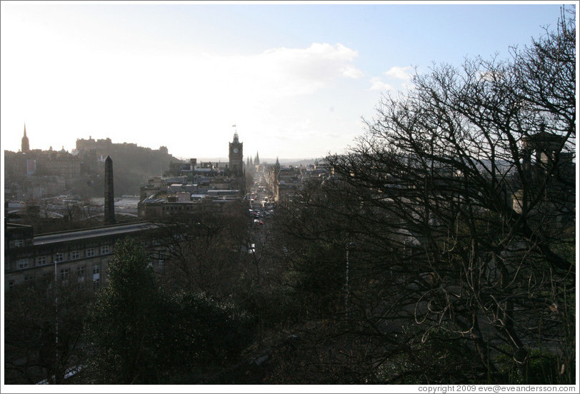 View to the west from Calton Hill.