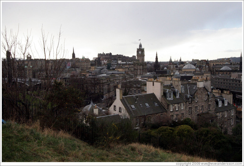 View to the northwest from Calton Hill.