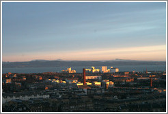 View to the north from Calton Hill at dawn.