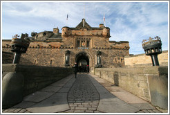 Gate.  Edinburgh Castle.