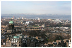 View to the southwest.  Edinburgh Castle.