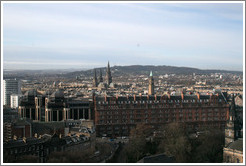 View to the west.  Edinburgh Castle.
