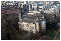St. Cuthbert's Parish Church, viewed from Edinburgh Castle.