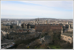 View to the northwest.  Edinburgh Castle.