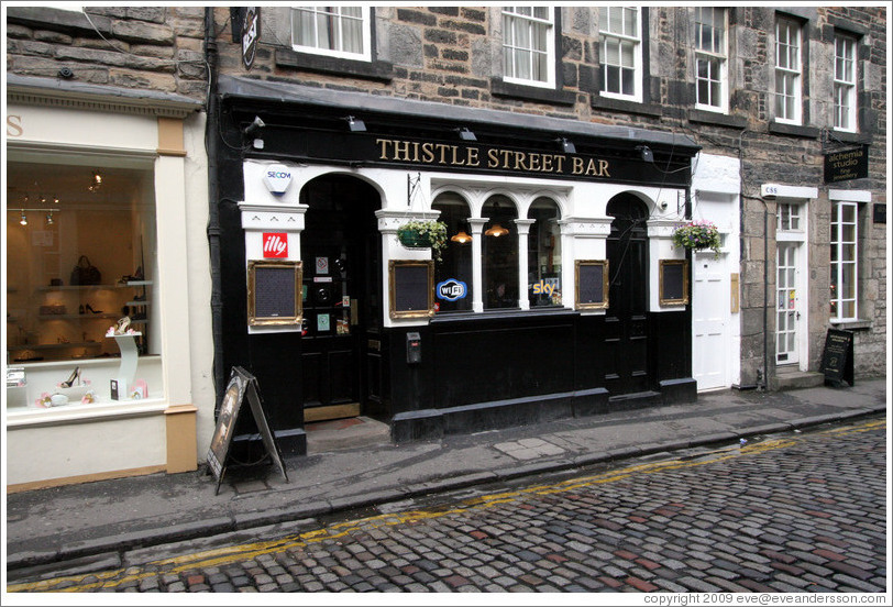 Thistle Street Bar.  New Town.