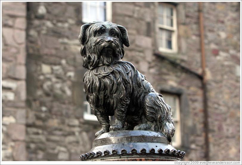 Greyfriars Bobby statue.  Candlemaker Row.  Old Town.