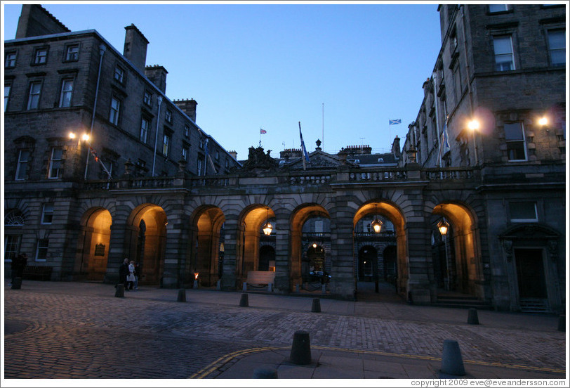City Chambers at dusk.  High Street.  Old Town.