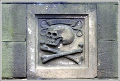 Skull and crossbones.  Greyfriars Kirkyard.  Old Town.