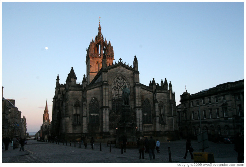 St Giles' Cathedral.  High Street.  Old Town.
