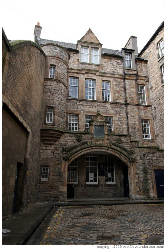 Old building, part of the University of Edinburgh School of Informatics.  Old Town.