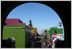 Chiappini Street, Bo-Kaap, seen through an archway.