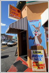 Rose Corner Cafe, Bo-Kaap. Sign advertises a mix for Boeber, a traditional Malay dish.