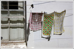 Cloths hanging to dry, Wale Street, Bo-Kaap.
