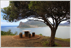 Picnic table. Hout Bay.