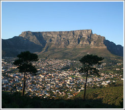 Table Mountain overlooking Cape Town.