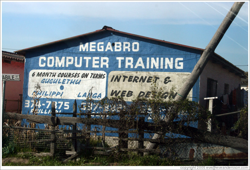 Computer training school in Crossroads township.