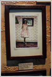 Photograph of Mariam Ebrahim, one of the people forcibly removed from her home and relocated to a township.  District Six Museum.