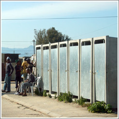 Outhouses in the Khayelitsha township.