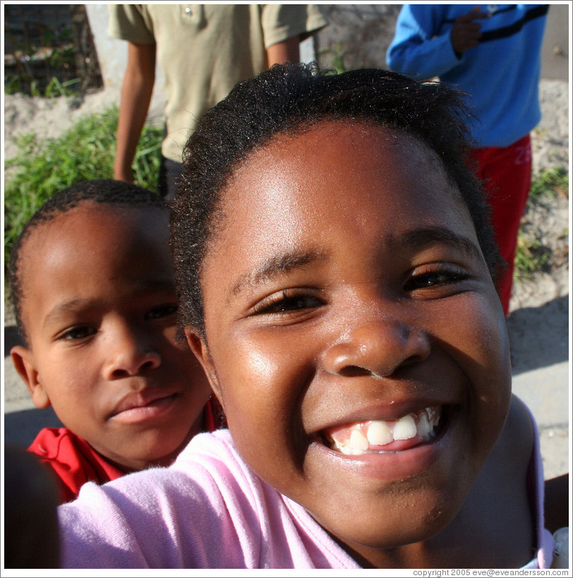 Kids in the Khayelitsha township.