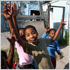 Kids in Khayelitsha township.
