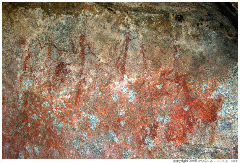 3000-year old bushman art, recently discovered near Jock Safari Lodge.
