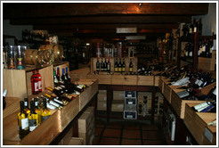 Wine shop at the Spier Winery.