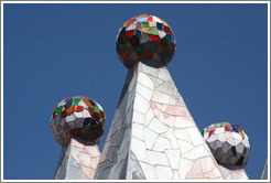 Chimneys (detail).  Casa Batll