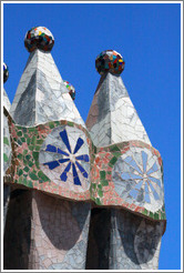 Chimneys (detail).  Casa Batll�.