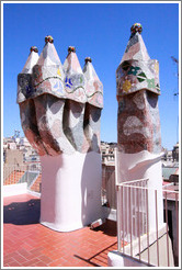 Chimneys.  Casa Batll