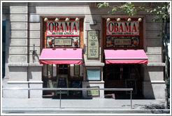 Obama British Africa, a restaurant on Gran via de les Corts Catalanes.