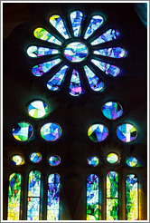 Stained glass.  La Sagrada Fam?a.