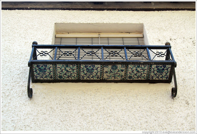 Ceramic window shelf. Veredilla de San Agust? Albaic?