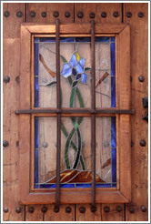 Iris stained glass window. Cuesta de San Agust? Albaic?